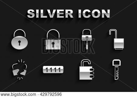 Set Password Protection, Open Padlock, Key, Safe Combination, Broken Cracked, Lock Picks For Picking