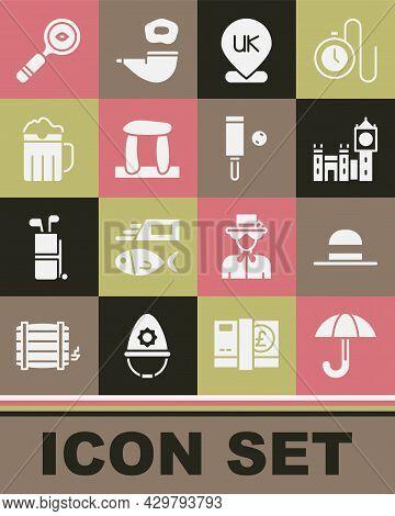 Set Umbrella, Elegant Women Hat, Big Ben Tower, Location England, Stonehenge, Wooden Beer Mug, Magni