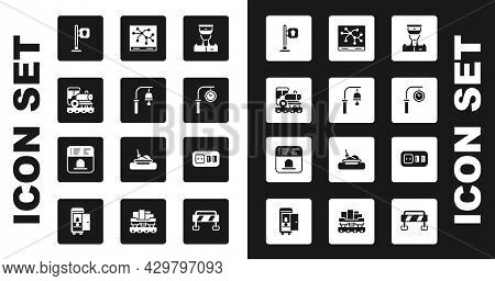 Set Train Conductor, Station Bell, Vintage Locomotive, Cafe And Restaurant Location, Clock, Railway