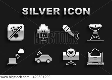 Set Smart Car System, Satellite Dish, Network Cloud Connection, Tv, Wireless Microphone, No Wi-fi Wi