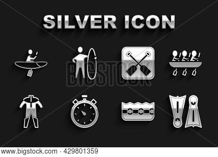 Set Stopwatch, Canoe Rowing Team Sports, Flippers For Swimming, Swimming Pool, Wetsuit Scuba Diving,