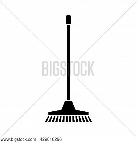 Cleaning Mop Simple Icon. Washing Housekeeping Equipment Sign. Glyph Mops Sign. Isolated Icon Suitab