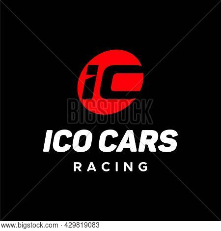Bold And Masculine Logo About Auto Racing And Ic Letters. Eps 10, Vector.