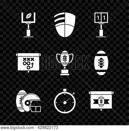 Set American Football Goal Post And Football Ball, Sport Mechanical Scoreboard Result Display, Helme