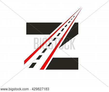 Transport Logo With Z Letter Concept. Z Letter Road Logo Design