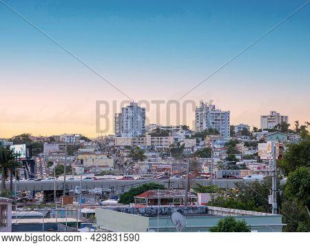 San Juan Puerto Rico. January 2021. Trafic During The Rush Hour In San Juan