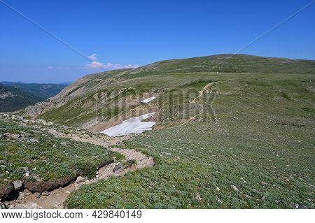 Alpine Tundra Above Tree Line On High Lonesome Trail In Indian Peaks Wilderness In Arapaho National
