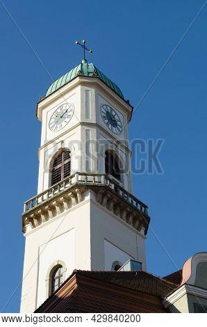 Regensburg, Bavaria, Germany - 11.11.2014: The Historic Town-hall Of Regensburg In Bavaria