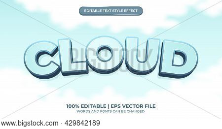 Editable Text Effect - Sky And Cloud Style