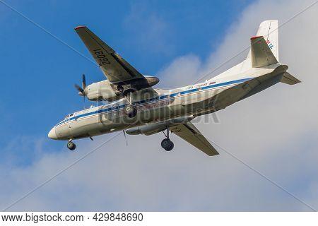 St. Petersburg, Russia - October 28, 2020: Aircraft An-26b-100
