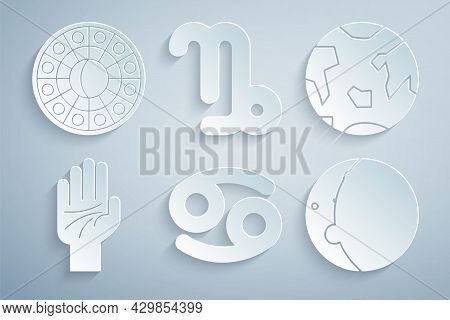 Set Cancer Zodiac, Planet Earth, Palmistry Of The Hand, Eclipse Sun, Capricorn And Astrology Horosco