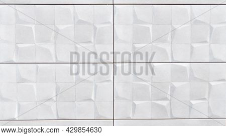 White Tiles Seamless Patchwork Pattern As Background