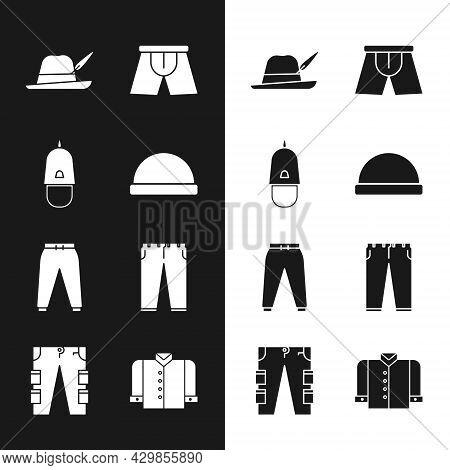 Set Beanie Hat, Police Cap With Cockade, Oktoberfest, Men Underpants, Sport, Pants, T-shirt And Carg