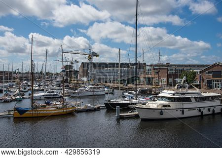 Den Helder, The Netherlands. July 31th, 2021. The Marina At The Former Willemsoord Shipyard In Den H