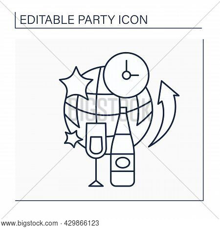 After Party Line Icon. Small Party After Larger Event. Exclusive Event For Special Guests. Celebrati