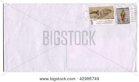 UNITED ARAB EMIRATES - CIRCA 2009: A stamp printed in United Arab Emirates shows image of the Falcon, circa 2009.