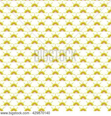 A Simple Warm Sunshine Seamless Vector Pattern