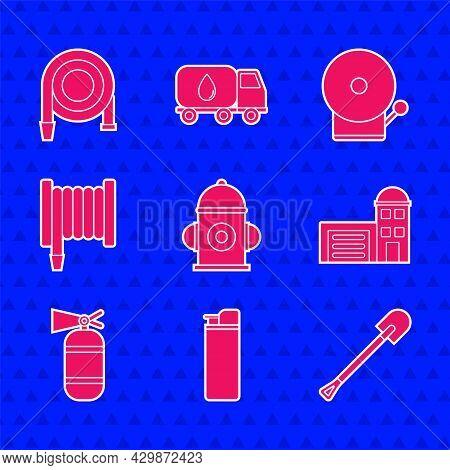 Set Fire Hydrant, Lighter, Shovel, Building Of Fire Station, Extinguisher, Hose Reel, Ringing Alarm