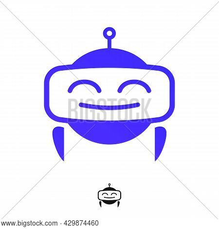Chat Bot Icon Isolated On White Background For Virtual Assistant Icon, Talk Bubble Speech Icon, Digi