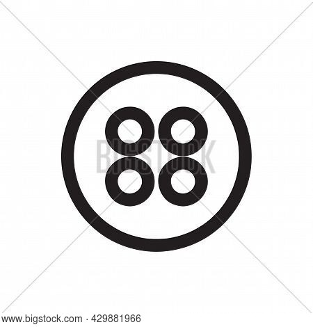 Clothing Button Sign. Clothing Button Isolated Simple Line Icon