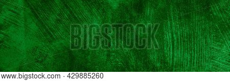 Green Cotton Material With Visible Texture. Background