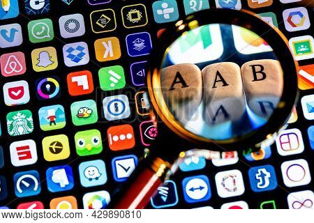 Kazan, Russia - August 15, 2021: Android App Bundle (aab) Is A New Application Distribution Format F