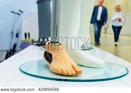 Bionic Prosthetic Leg. Modern Technology For Prosthetic Limbs.