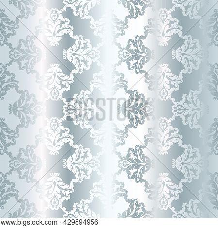 Damask Vintage Baroque Scroll Seamless Ornament Swirl. Victorian Monogram Heraldic Shield Swirl.retr