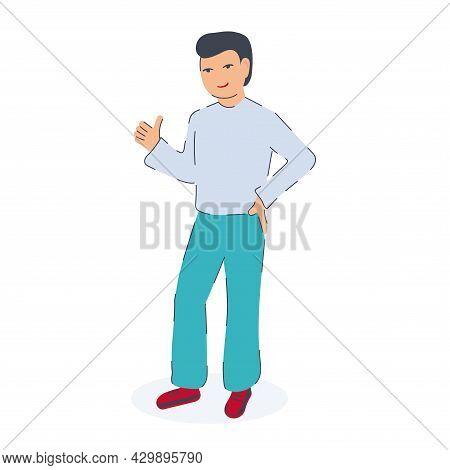 Man Gestures Ok Dd Ww Isol Peple