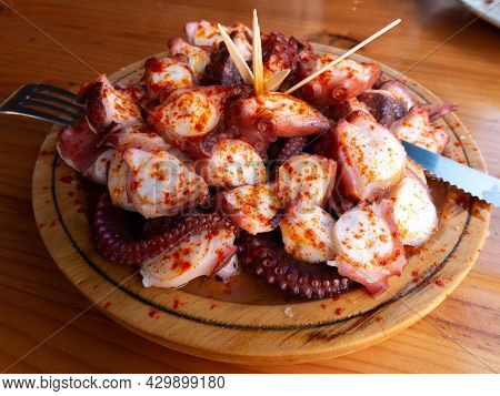 Polbo A Feira Meaning Fair-style Octopus In Gallego Or Pulpo A La Gallega In Spanish Meaning Galicia