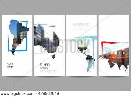 Vector Layout Of Flyer, Banner Templates For Website Advertising Design, Vertical Flyer Design, Webs