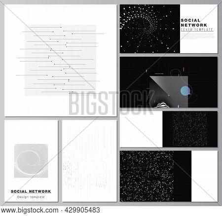 Vector Layouts Of Social Network Mockups For Cover Design, Website Design, Website Backgrounds Or Ad