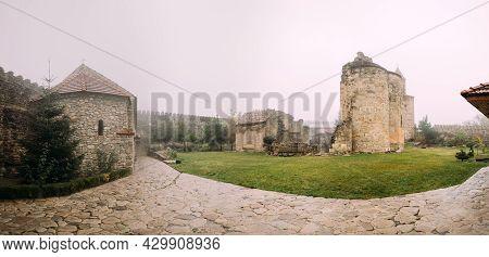 Ninotsminda Village, Kakheti Region, Georgia. Ruins Of Old Church Monastery Of Saint Nino, Ninotsmin