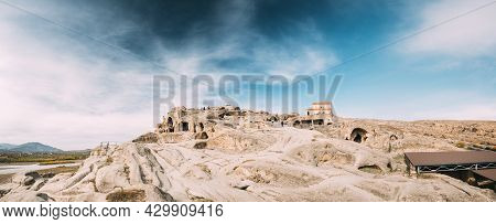 Uplistsikhe, Shida Kartli Region, Georgia. Panorama Of Uplistsuli Church Or Church Of Prince And Liv