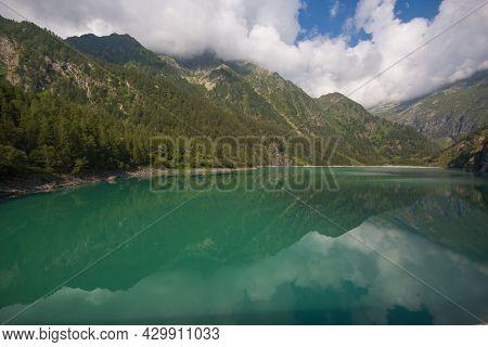 Panoramic View Of Lago Alpe Dei Cavalli In Piedmont, Italy