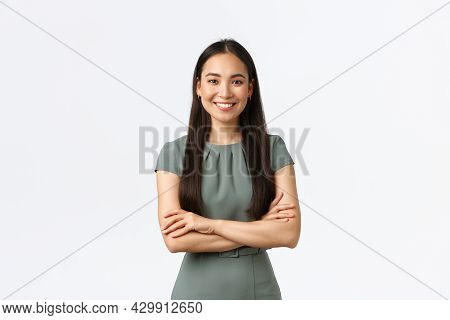 Small Business Owners, Women Entrepreneurs Concept. Confident Young Asian Woman Starting Startup, Ma