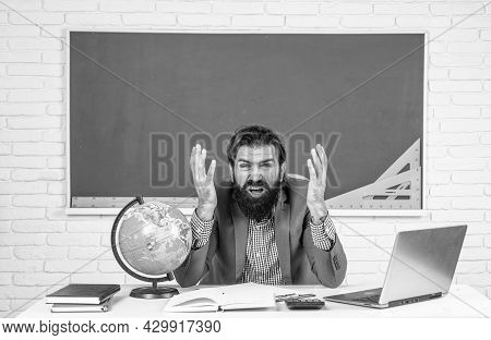 Oh My God. Pass The Exam. Learning The Subject. Back To School. Happy Teachers Day. Brutal Man With
