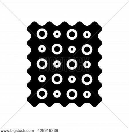 Patterned Fabric Glyph Icon. Material Feature. Textile Industry. Black Symbol. Isolated Vector Stock