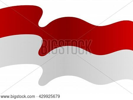 The Background Of The Red And White Flag Is Flying, The Red Color Symbolizes Courage And The White C