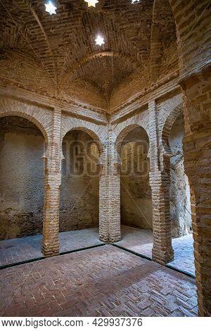 The Arab Baths, Banos Arabes In The Moorish Alcazar, Jerez De La Frontera, Cadiz Province, Andalucia