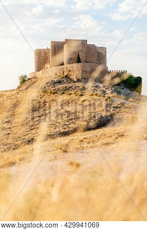Vertical Photo Of A Hill With A Path And A Romanesque Castle On To