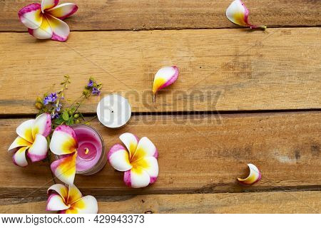 Natural Herbal Scented Candle Extract Flowers Frangipani Aroma Therary Local Of Asia Arrangement Fla