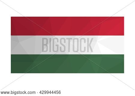 Vector Isolated Illustration. National Hungarian Flag With Tricolour Of Red, White And Green. Offici