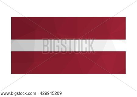 Vector Isolated Illustration. National Latvian Flag With  Red-white-red Stripes. Official Symbol Of