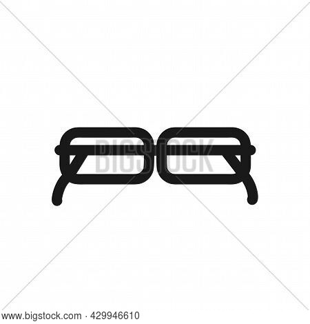 Optical Glasses Sign. Optical Glasses Isolated Simple Vector Line Icon