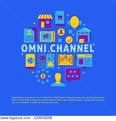 Omni Channel Concept Banner With Place For Text