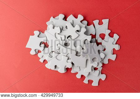 Stack Of White Jigsaw Puzzle
