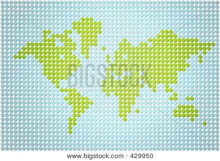 stylish world map made out of dots poster