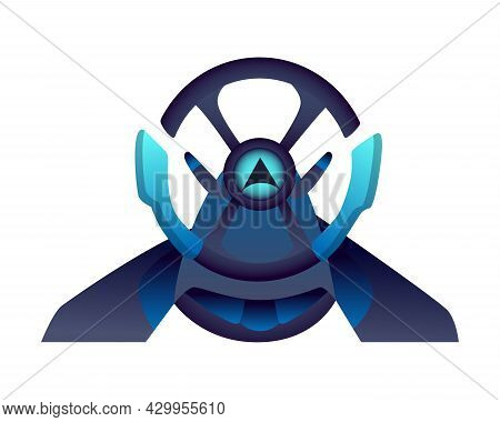 Gaming Equipment. Steering Wheel For Gaming Entertainment. E-sport Accessorie. Element For Gamer Tou