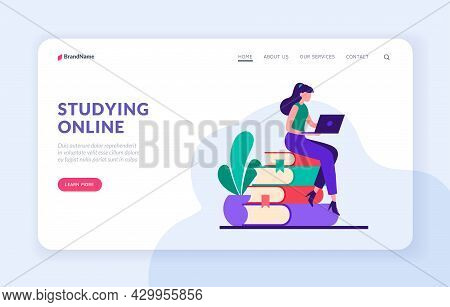 Professional Online Study. Remote Courses Of Study At University. Access To Digital Libraries And We